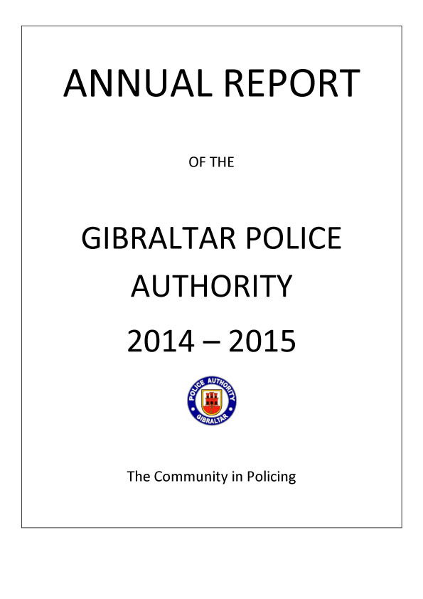 Annual Policing Report 2014-2015