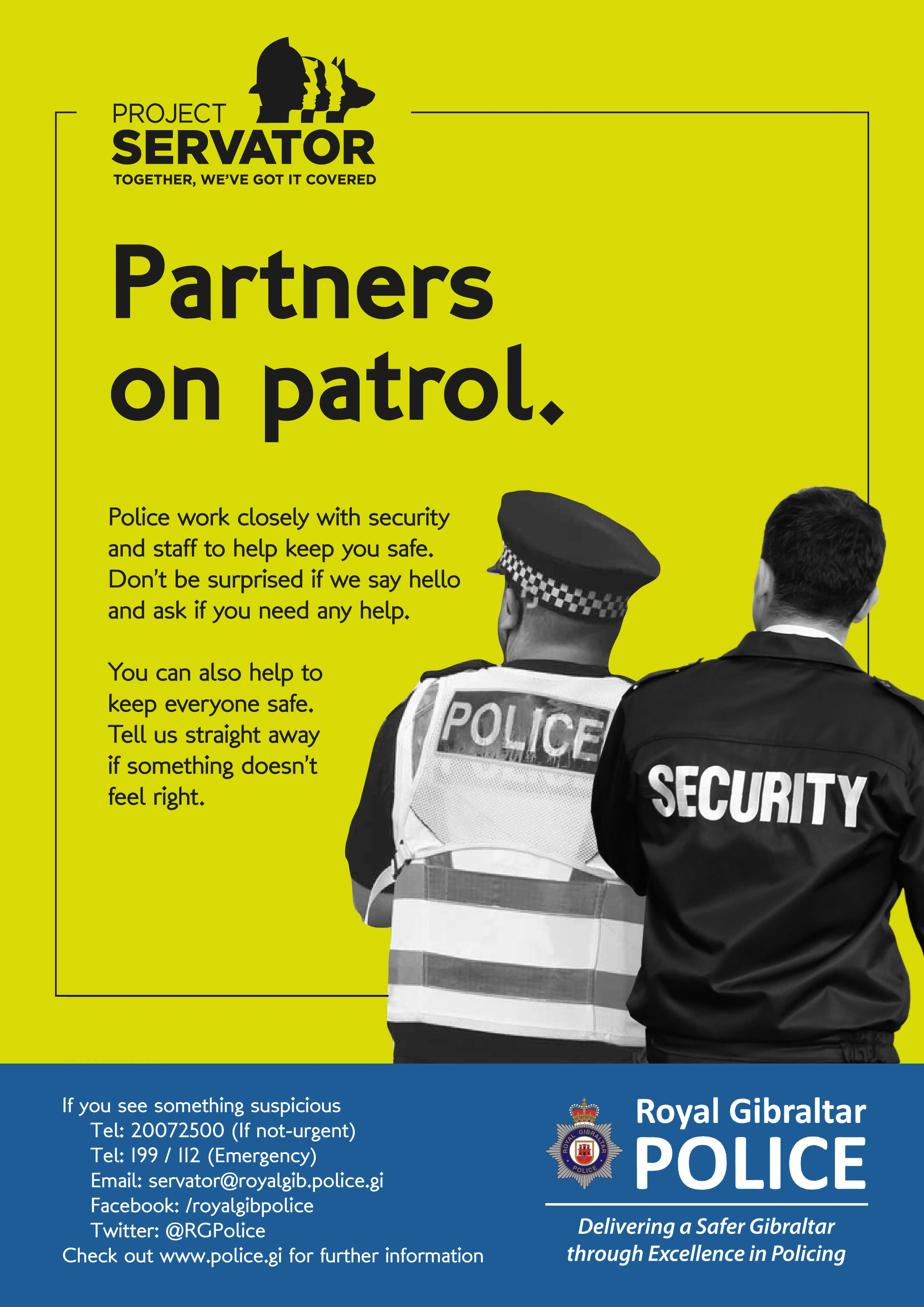 Project Servator Partners Poster