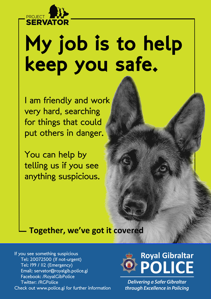 My job is to help keep you safe Poster
