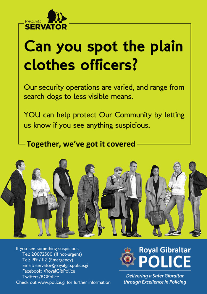 Can you spot the plain clothes officers? Poster